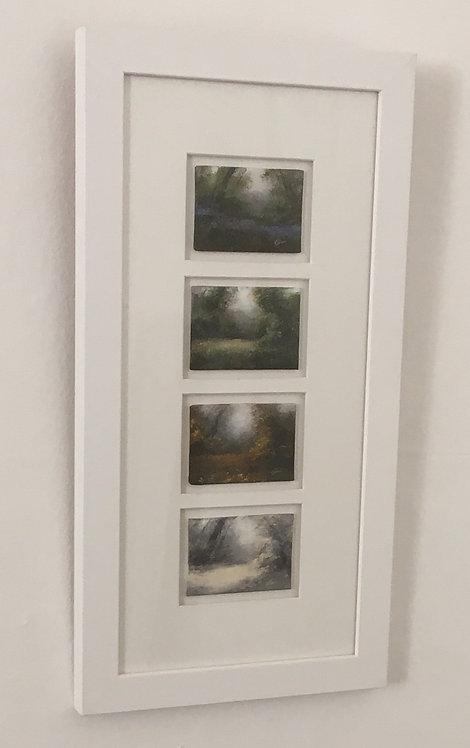 Four Seasons 2, Framed: 20 x 10.5 ins