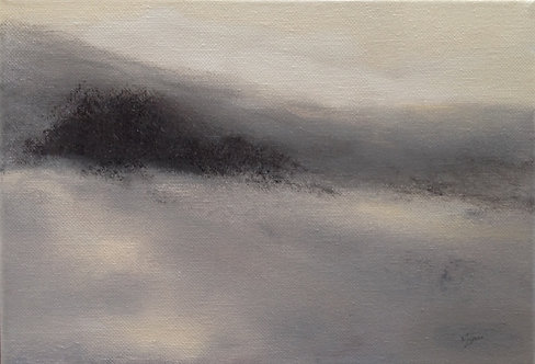 Snow on the Moor: 8 x 11.5 ins
