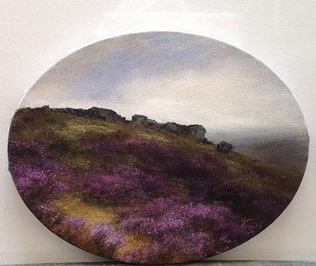 Ilkley Moor: 8 x 10 ins (oval)