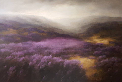 Study of Heather and Mist: 48 x 72 ins