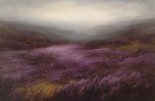Heather, Rolling Hills: 24 x 36 ins