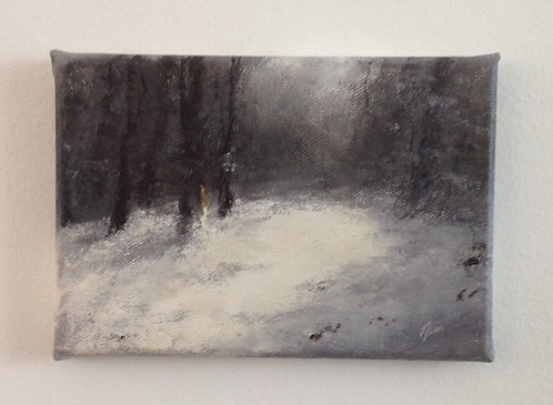 Snow Wood: 5 x 7 ins