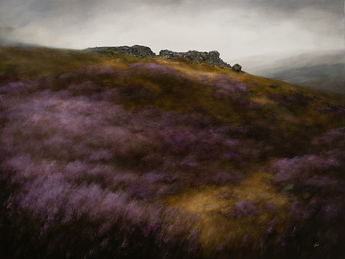 Hill up to the Cow and Calf Rocks: 36 x 48 ins