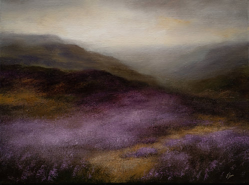 Moorland Heather: 12 x 16 ins
