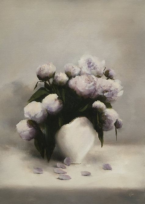 White Peonies: Sold