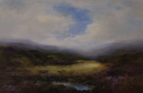Summer Landscape with Brook: 20 x 30 ins