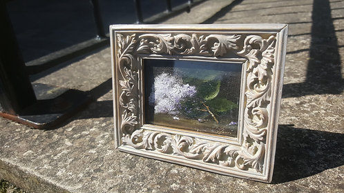 White Lilacs Miniature: Framed