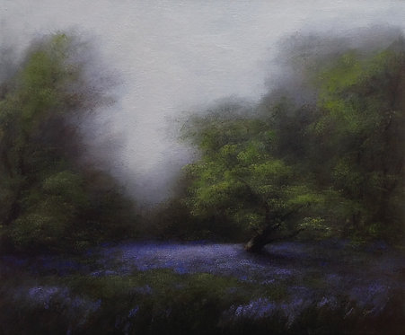 Early Bluebells: 20 x 24 ins