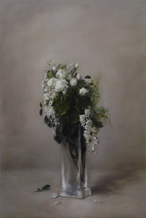 White Bouquet: 36 x 24 ins