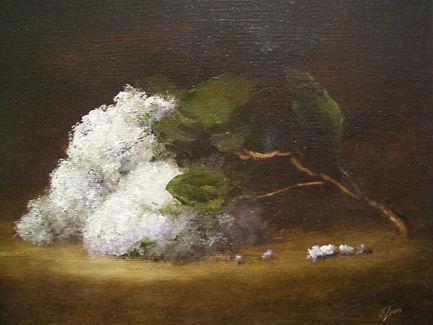 28 White Lilacs Pendant 8 x 10 ins priva