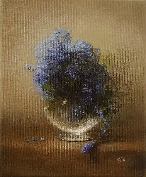 Blue Wild Flowers: 10 x 8 ins