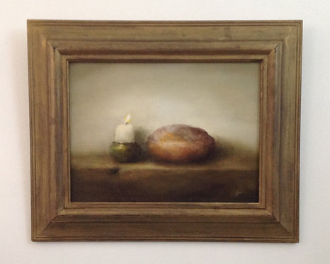 Bread & Candle: 12 x 16 ins in Frame