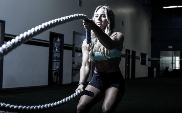 mujer entrenamiento