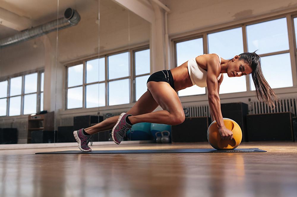 entrenamiento abdomen mujer