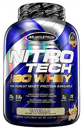 MUSCLETECH NITRO-TECH 100% ISO WHEY(5LB)