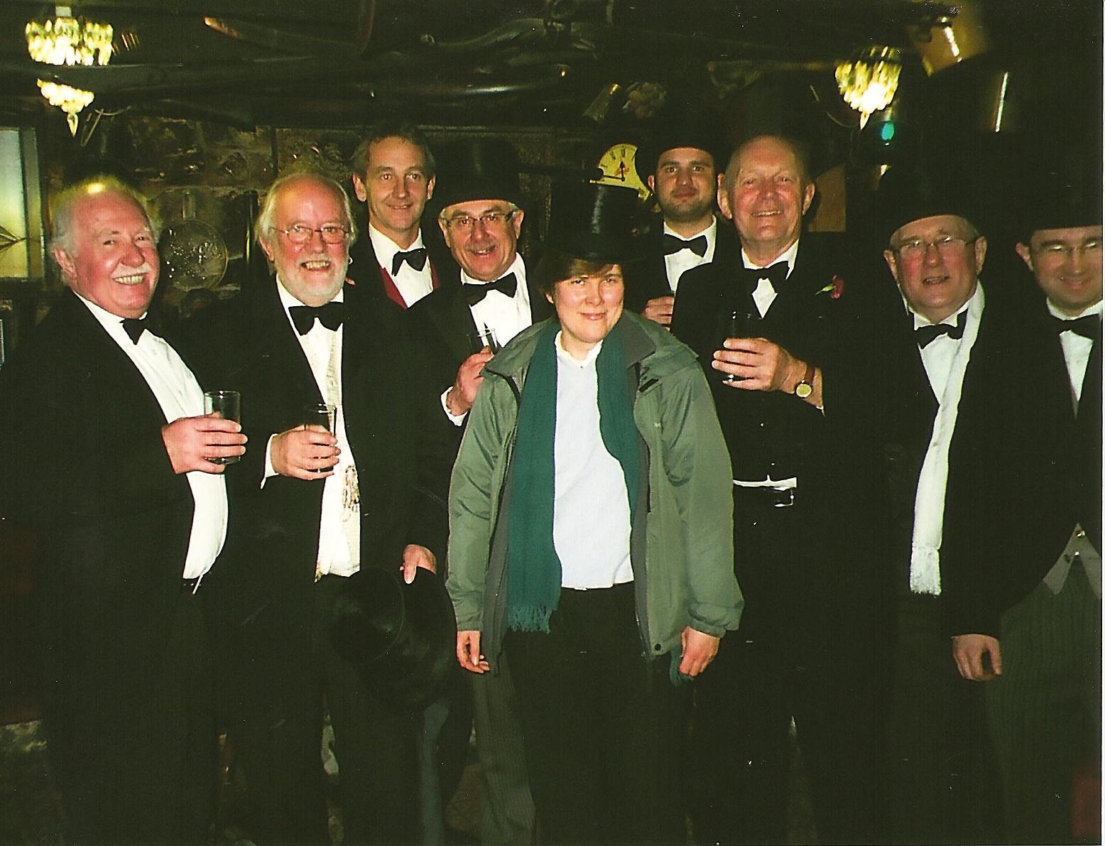 Joyce Murgatroyd with Wassailers