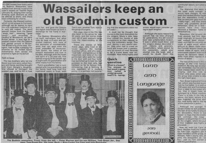 Cornish Guardian (?)