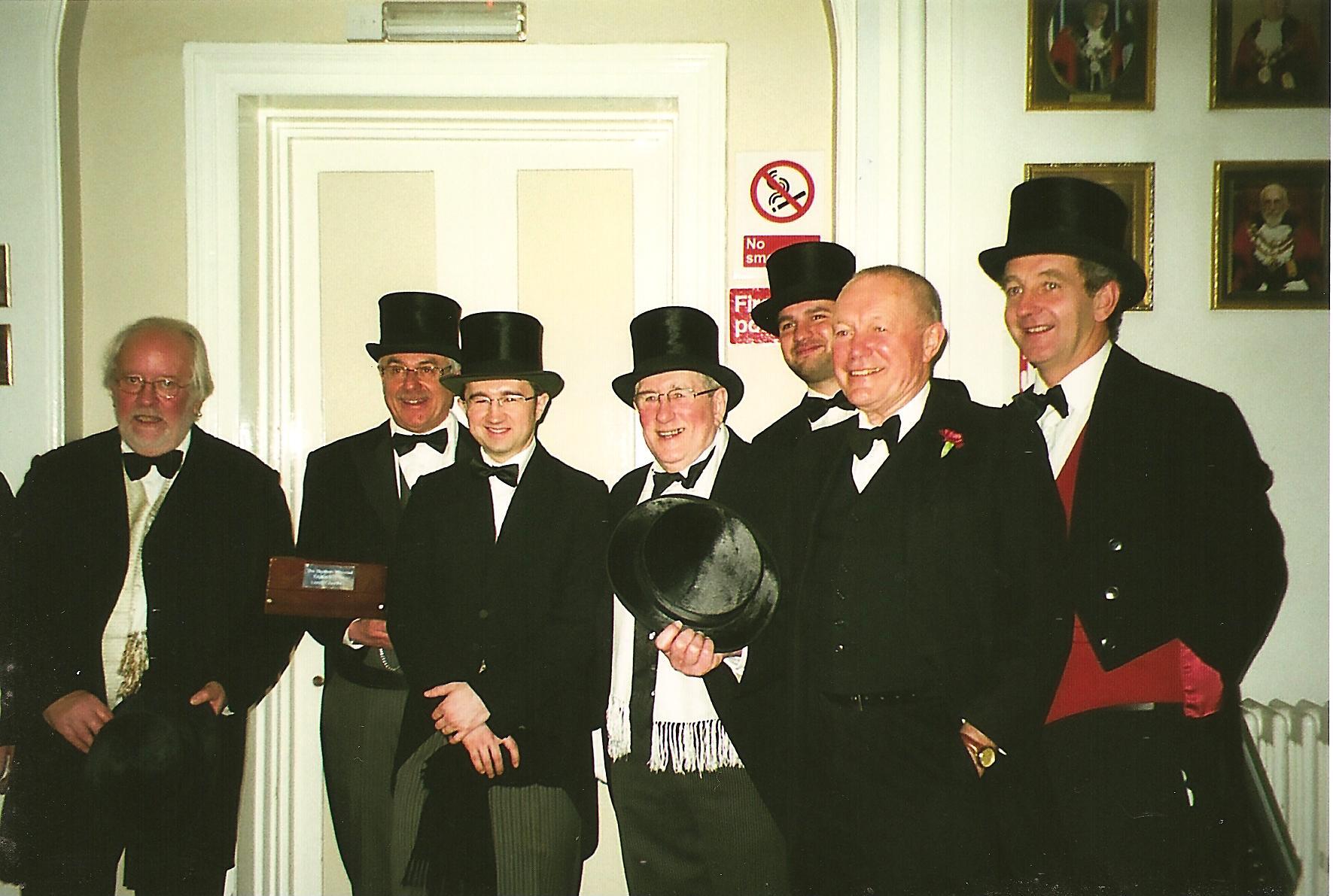 Bodmin Wassailers inside Bodmin Town Council