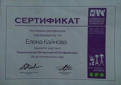 сертифицированный ветеринар