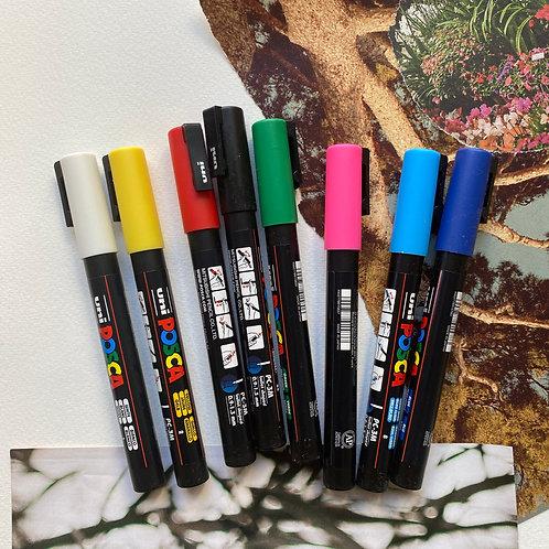 Marcadores Posca 3M Set 8 Colores Básicos