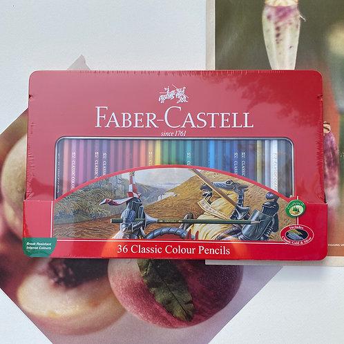 Caja lata de 36 colores Faber-Castell