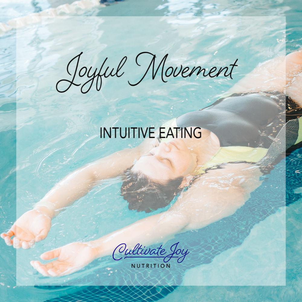 Joyful movement woman swimming