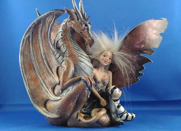 Fée et dragon