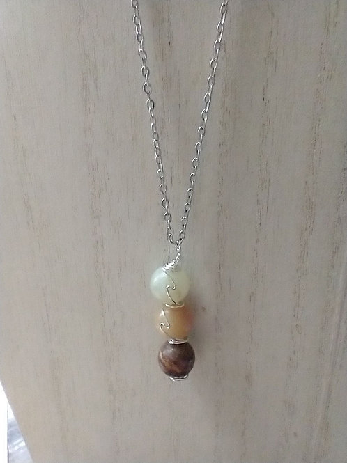 Stone Bound Amazonite Necklace