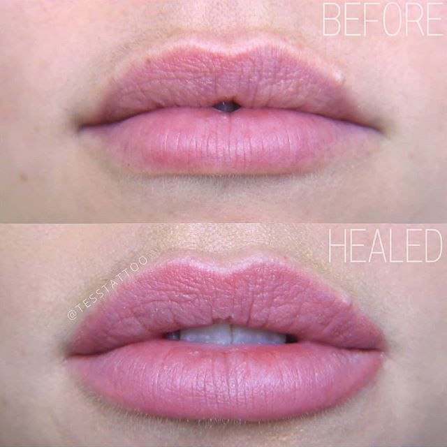 HEALED lip blush results after 1 session
