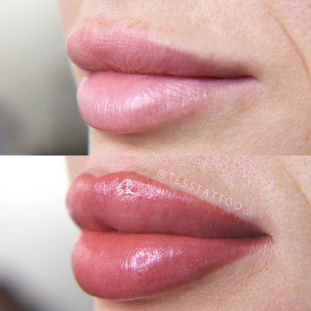 Lip blush enhances color, shape and full