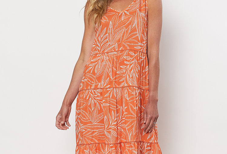 Threadz Tiered Print Sun dress