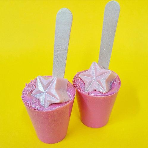 Pink Hot Chocolate Stirrer (White Chocolate)