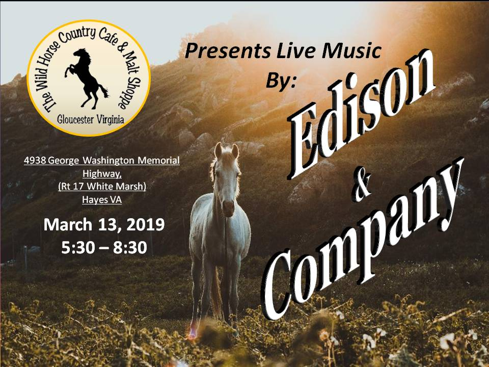 Edison and Company March 13 2019