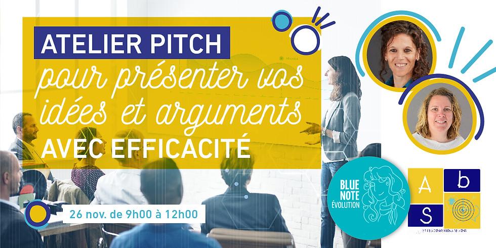 ATELIER PITCH pour présenter vos idées et arguments avec efficacité !