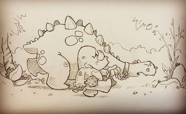#drawing #doodle #illustration #sketch #dinosaur
