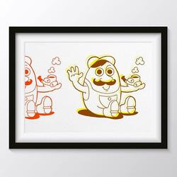 #illustration #art #hello #tobacco #moustache #chill