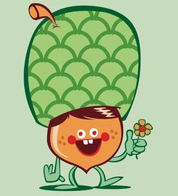 #illustration #drawing #art #acorn #flower #green #happy #retarded