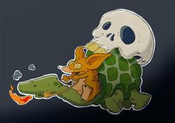 #procreate #procreateapp #sketch #drawing #illustration #turtle #skull #fingerpainting
