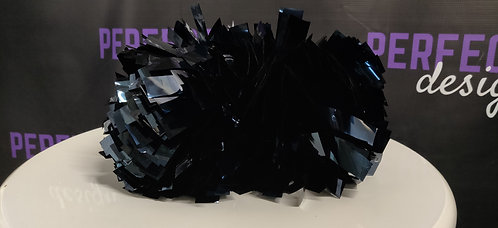 "6 Dark Blue Metallic 4"" Baton Handle Poms"