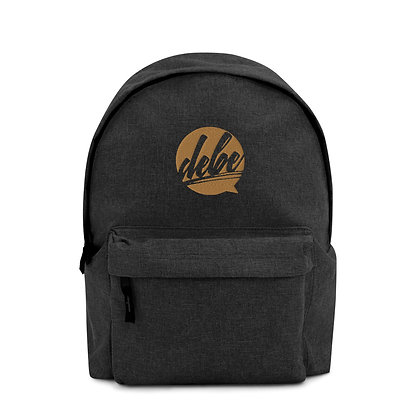 DEBE Embroidered Backpack