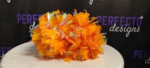 "34 Athletic Gold w/Fire Mix 4"" Poms"