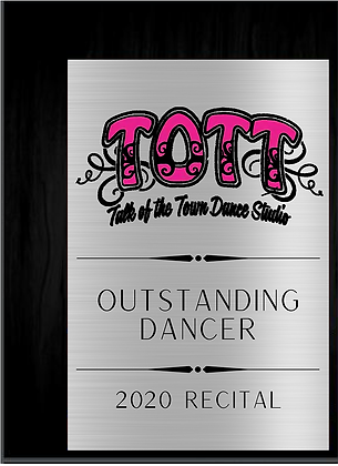 TALK OF THE TOWN Dancer Award (6x8)