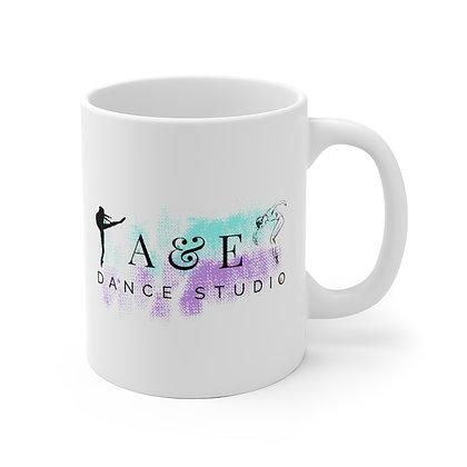 A&E White Ceramic Mug