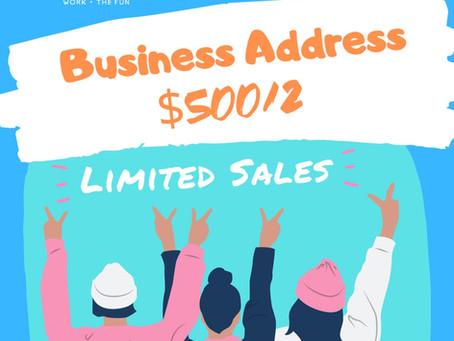 BUSINESS ADDRESS $500/2