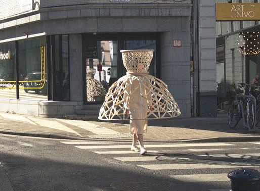 From massive hats to rattan cages: Fashion gets a socially distanced makeover
