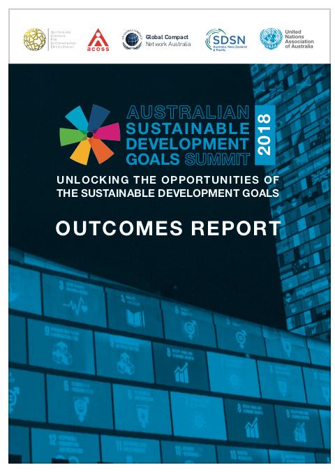 Australian Sustainable development goals summit outcomes report