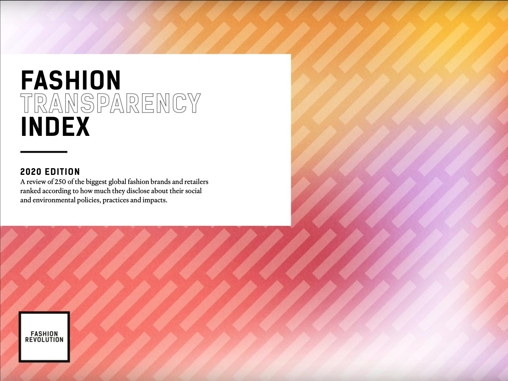 Fashion Revolution Transparency Index 20