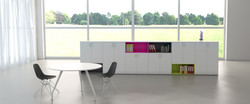 Storage and meeting table