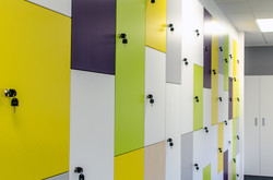 Multi coloured lockers