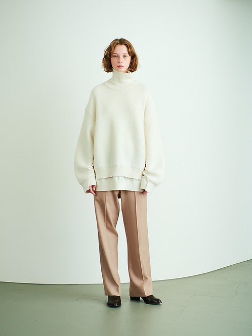 CONNECTING HIGHT NECK KNIT L/S